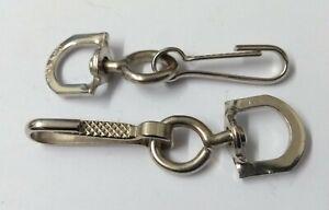 Genuine-British-Military-Issue-2-034-Nickel-Plated-Lanyard-Hooks-1PR-STD17