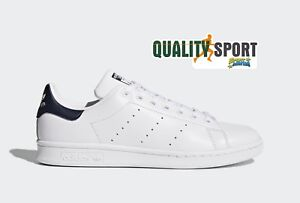 Adidas Stan Smith Bianco Blu Scarpe Shoes Uomo Sportive Sneakers M20325 2018