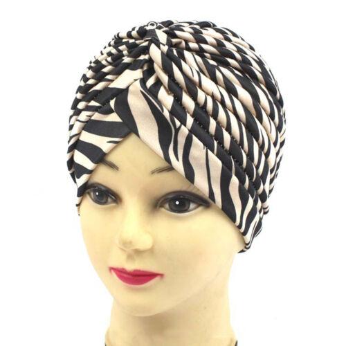 Mode Indischer Stil Leopard Gold Turban Chemotherapie Haare Stirnband Yoga Cap