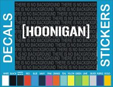 HOONIGAN WINDOW STICKER VINYL DECAL JDM KEN BLOCK LOWERED DRIFT EURO HONDA VW 12