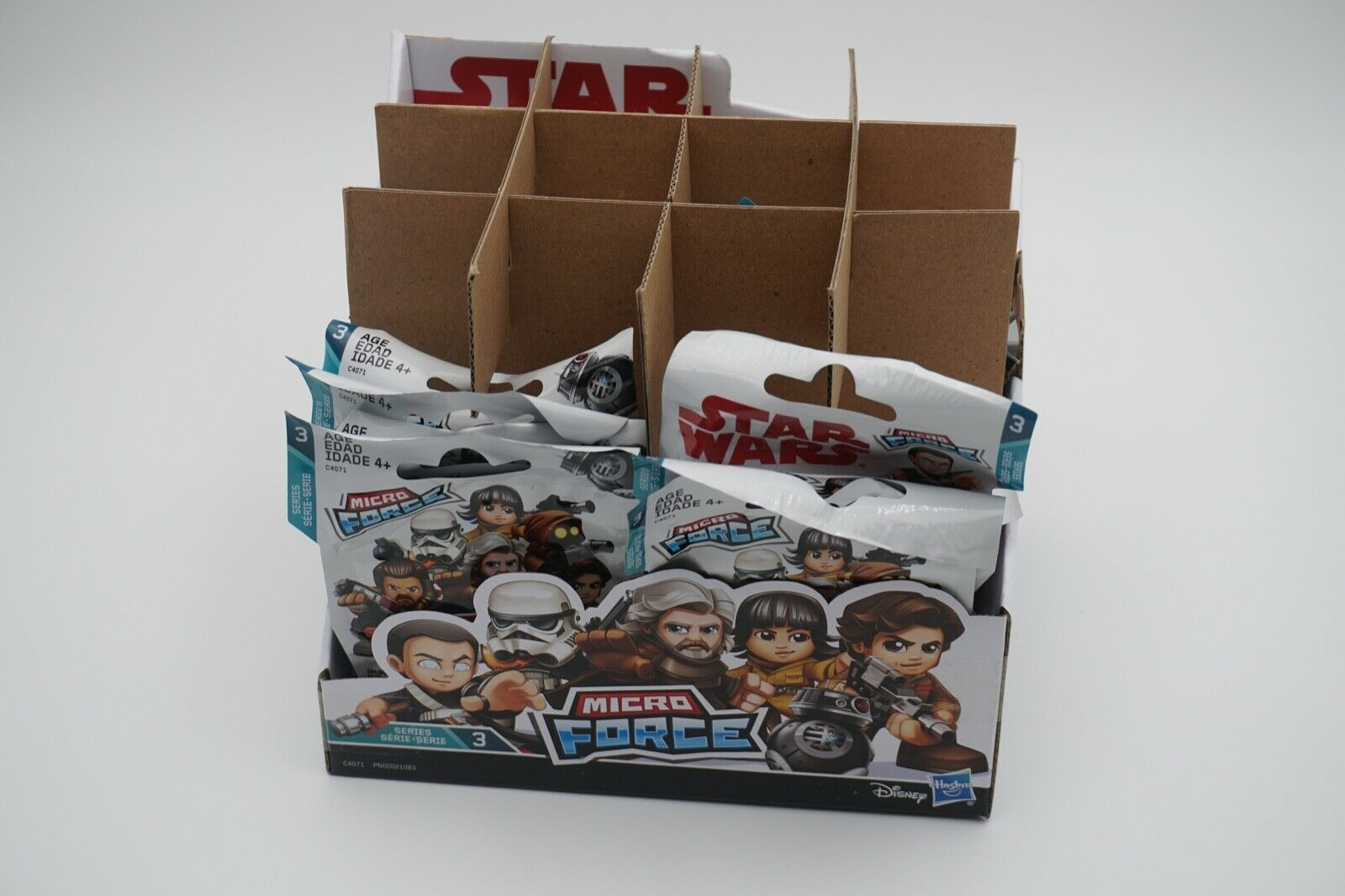 1 Case (24 Blind Bags) Star Wars Micro Force Series 3 Figures Characters