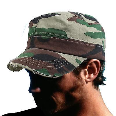 Entusiasta Fidel Cappello Cadetto Stile Militare Caccia Mimetico Castro 1sz Fit