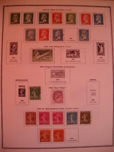FRANCE-COLLECTION-TIMBRES-NEUFS-OBLITERES-1860-1966