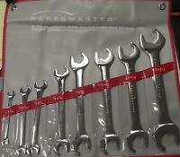 Partsmaster 893-1-0090 9 Pc Autobahn Sae Double Open-ended Wrench Set