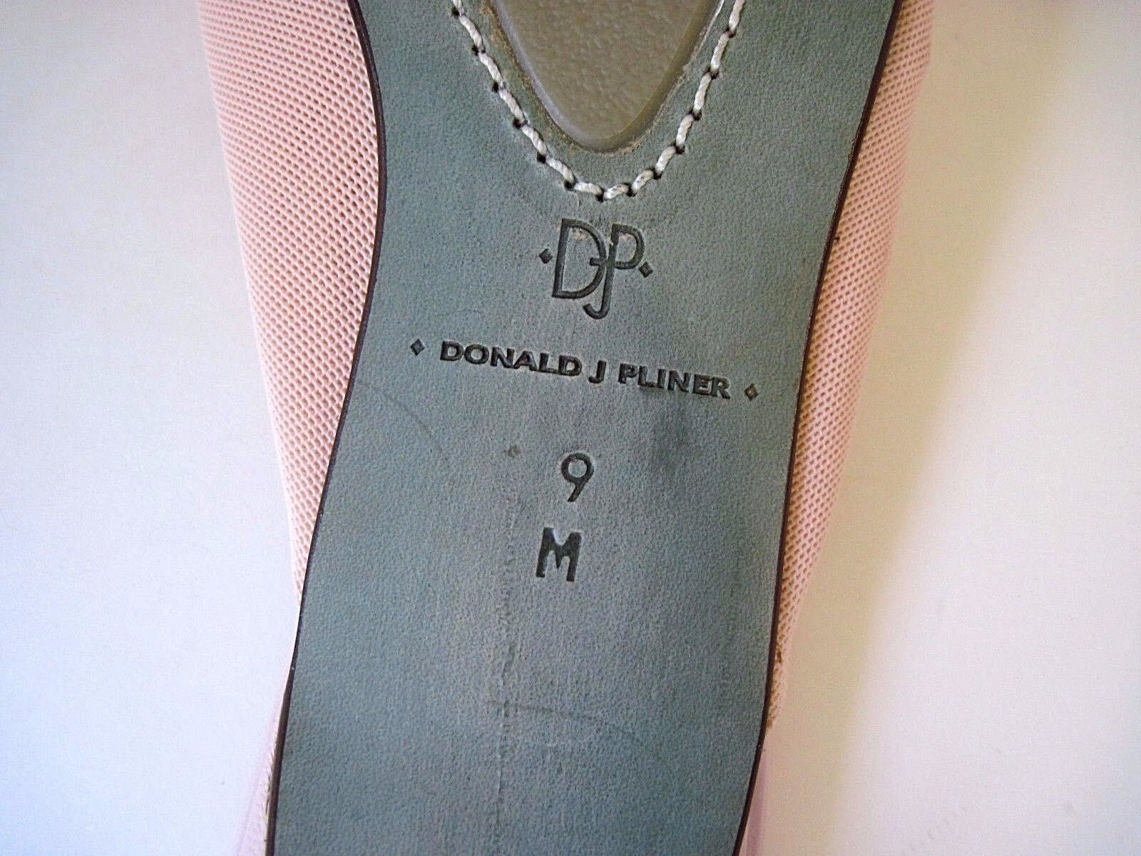 DONALD J PLINER Pink Canvas Pink Pink Canvas Front Buckle Kitten Heels Pelle Size 9M,NEW b8a1e8