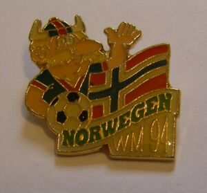 WORLD-CUP-94-USA-SOCCER-1994-NORWAY-Limited-Edition-500-vintage-pin-badge-Z8J