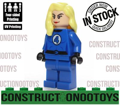 Invisible Woman FANTASTIC FOUR lego Custom PAD UV PRINTED Minifigure