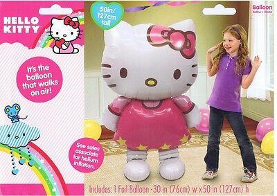 """Jumbo Hello Kitty Airwalker 50"""" Birthday Foil Balloon Decoration Party Supplies"""