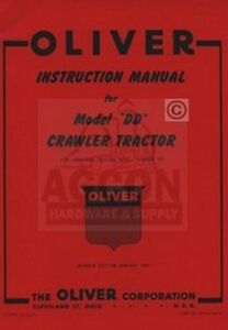 Oliver-DD-Crawler-Tractor-Operators-amp-Service-Manual