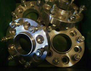 """(4) Envoy & Trailblazer 1.3"""" cnc machined wheel spacers 6x5.5 - 6x5 lug"""
