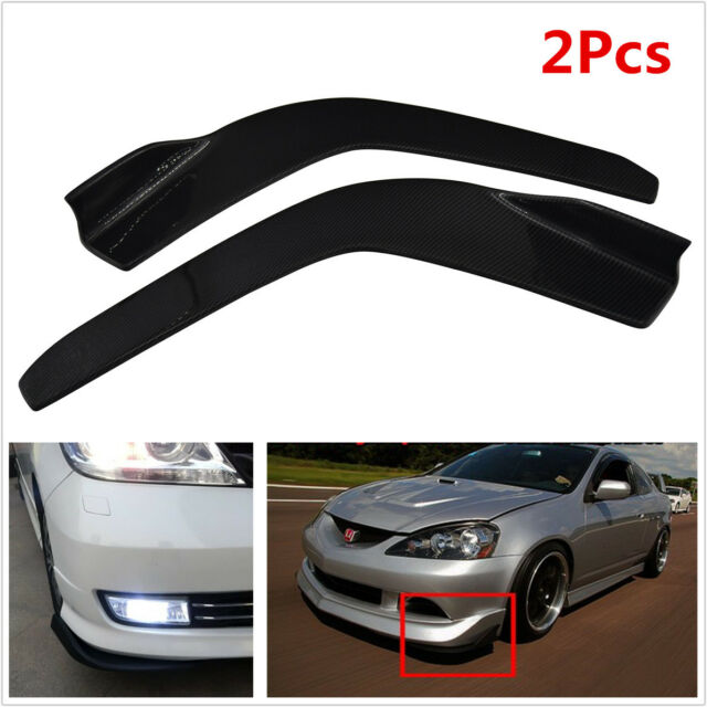 2x Winglet Type Style Car SUV Front Bumper Lip Diffuser Splitter Canard Kit 2609