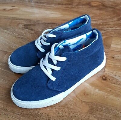Mini Boden Boys Suede Leather Navy
