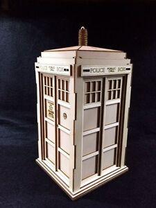 dr who s tardis laser cut wooden 3d model puzzle kit ebay