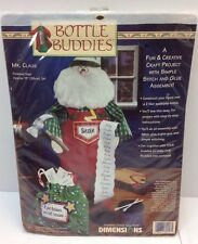 Dimensions Christmas Santa Mr. Claus Bottle Buddies Crafts New 1998