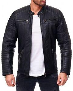 Redbridge Style Herren M6013lux Leather Biker Genuie Jacke Echtleder rznrfWc048