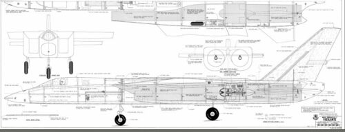North American A3J-1  66  inch Wing   Giant Scale RC JET  Printed Plans