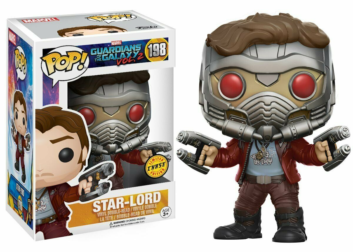 Funko Pop Movies Guardians of the Galaxy Vol 2 Star Lord Chase Edition Vinyl Fig