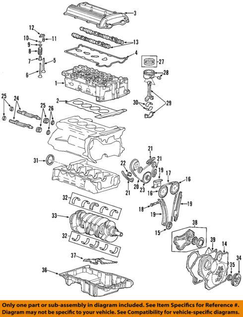 GM Sunfire Set of 4 Rods 24455133 & Pistons 02 2.2 DOHC VIN F for sale  online   eBayeBay