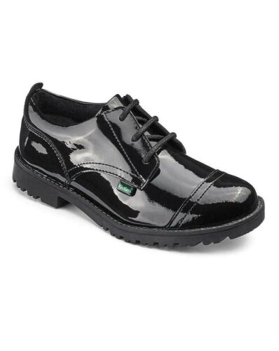 School Shoes Kickers Lachly Black Patent Leather Girls Formal