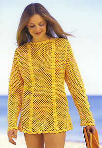 SWIMSUIT-COVER-UP-Mesh-Tunic-Apparel-Crochet-Pattern-Instructions