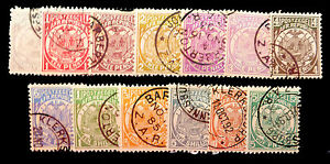 SOUTH-AFRICA-TRANSVAAL-1883-13-Values-to-5-Cat-227-FP3555