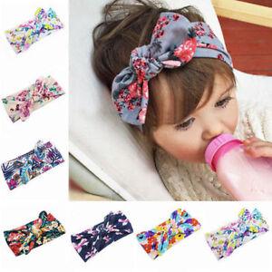 Baby Kids Headband Ribbon Elastic Headdress Kids Hair  Girl Bow Knot New 34