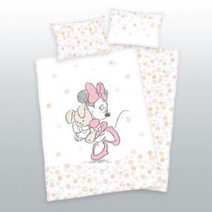 Minnie Mouse Baby Bettwäsche Blumen Weiß Rosa Apricot Baumwolle Ebay