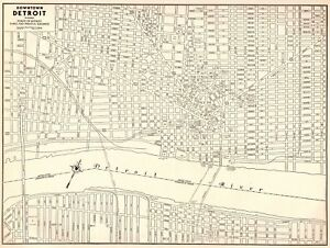 1942 Vintage Map of DETROIT Michigan Map Black & White Gallery Wall on map of delaware, map of new york, map of midwest, map of chicago, map of harper woods, map of great lakes, map of miami, map of olivet, map of san jose, map of 8 mile, map of caro, map of giants, map of highland park, map of vassar, map of boston, map of pauls valley, map of toronto, map of tampa, map of auburn hills, map of michigan,