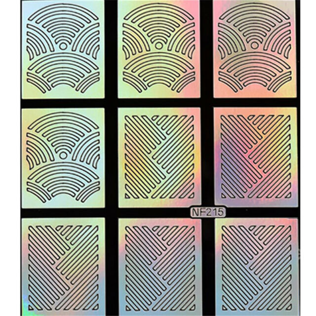 2016 DIY New Designs Nail Art Stencils Vinyl Decal Stickers Manicure French TIPS