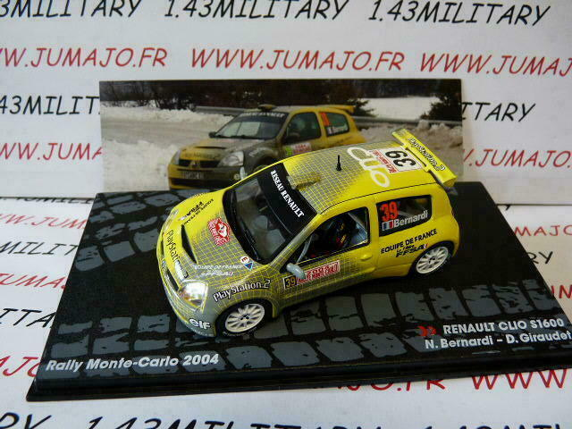 RIT92G voiture 1//43 IXO Altaya Rallye RENAULT CLIO S1600 Monte Carlo 2004 #39