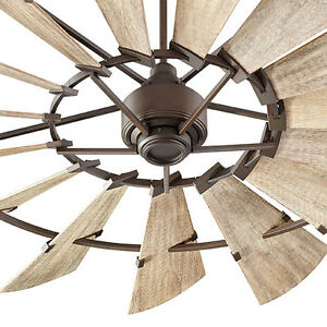 Quorum 72 oiled bronze indoor windmill ceiling fan on - Windmill ceiling fan for sale ...