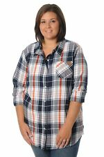 e12dc77ae18 item 6 NCAA Auburn Tigers Women s Plus Size Boyfriend Plaid Shirt 2X  Navy Orange White -NCAA Auburn Tigers Women s Plus Size Boyfriend Plaid  Shirt 2X ...