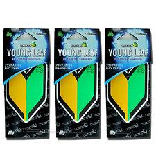 3 PACK Wakaba Japan Treefrog Young Leaf Black Squash Scent JDM Air Freshener