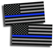 2x Support Police USA Flag Blue Line 2nd Amendment 2A Sticker Decal Lives Matter