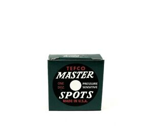 Master Spots - 1 Dozen, Replacement spots for Pool Table