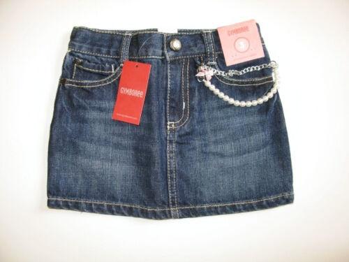Vintage Gymboree girl school schoolgirl denim jean skirt skort holiday happy 5 8