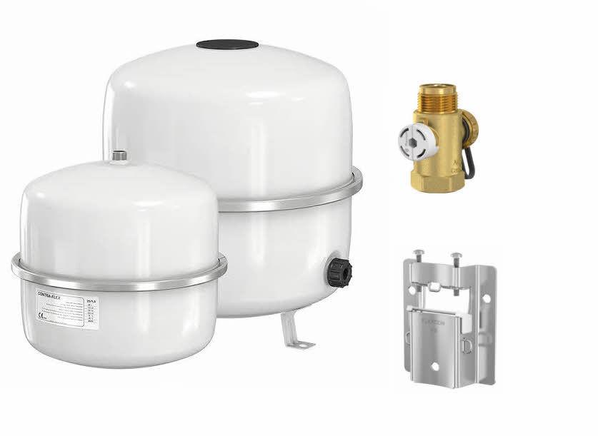Buderus Membran Ausdehnungsgefäß Ausgleichsbehälter weiß für Heizung 18 - 80 L