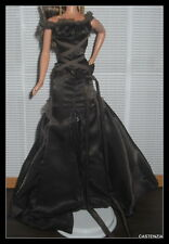 DRESS  MATTEL BARBIE DOLL CHOCOLATE OBSESSION COCOA BROWN GOWN CLOTHING ITEM