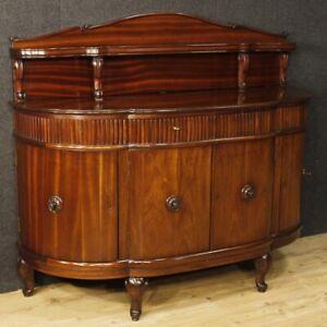Credenza francese mobile in legno mogano comò stile antico 900 salotto 4 ante