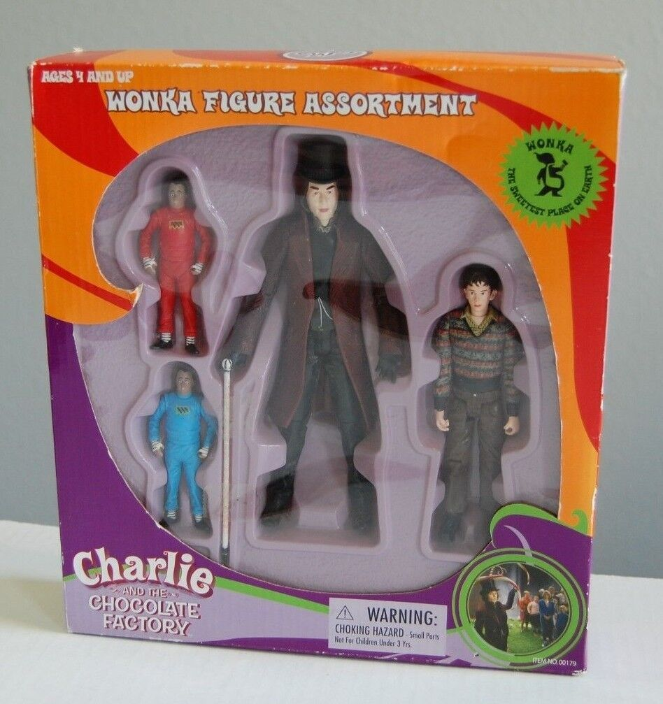 RARE WONKA FIGURE ASSORTMENT CHARLIE & THE CHOCOLATE FACTORY JOHNNY DEPP BURTON