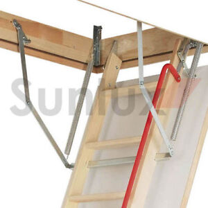 Optistep Wood Timber Folding Loft Ladder Amp Hatch 60cm X