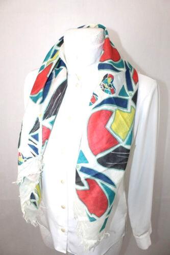 Écharpe Coloré Foulard avec motifs géométriques 100 x 100 cm