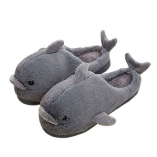Girls Boys Winter Sandals Shoes Walker Kids Infant Cartoon Animal Fur Slippers