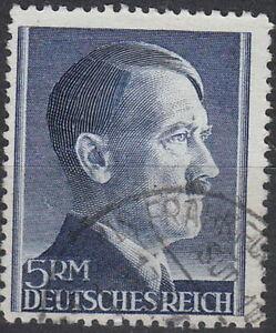Stamp-Germany-Mi-802-Sc-527-1941-WW2-Fascism-Hitler-Head-Used
