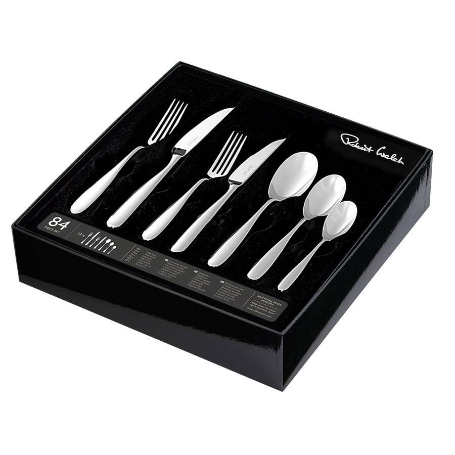 Robert Welch Stanton Bright 84pc 84pc 84pc Cutlery Set Gift Boxed 11a889