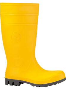 PVC-Sicherheitsstiefel Gummistiefel gelbe Arbeitsstiefel EUROMASTER S5 Gr. 39-48