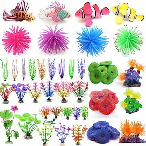 Aquarium-Fish-Tank-Landscape-Decor-Glow-Simulation-Animal-Plants-Ornaments-New