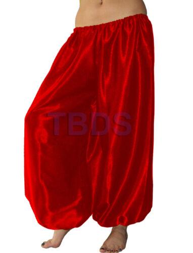 REDLady Women Satin Harem Pant Yoga Pleated Waist Belly Dance Tribal