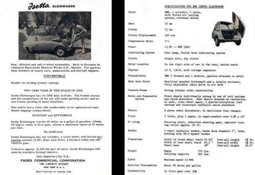 c1953 BMW Isetta Kleinwagen