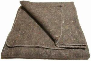Military-Surplus-NEW-Moving-Blanket-12-Pack-Made-in-USA-Grey-Disaster-Blanket